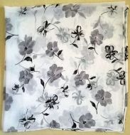 Black White Flower Print