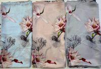 Satin Floral Scarves