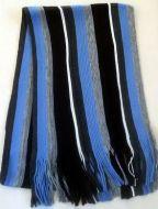 Blue Striped Men's Scarf
