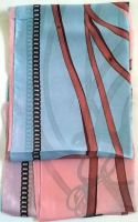 Pink Belt Print Silk Scarf