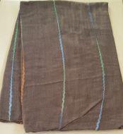 Stripe Embroidered Wrap